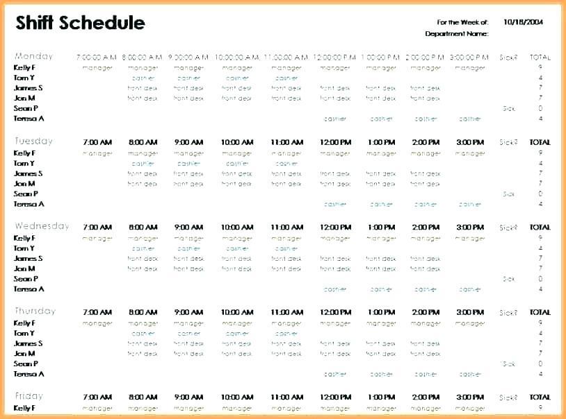 247 Shift Schedule Examples Excel