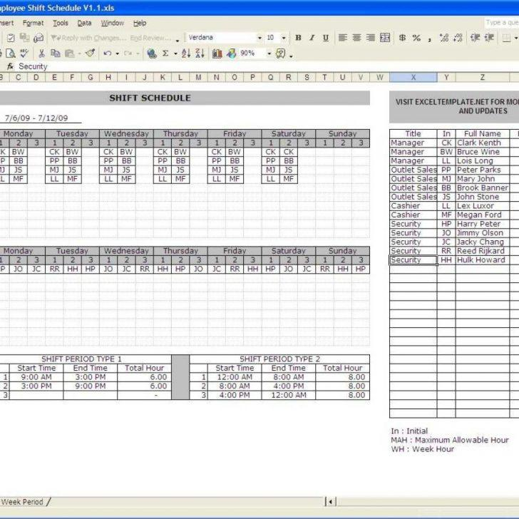 24×7 Shift Schedule Template Excel - Templates #35503