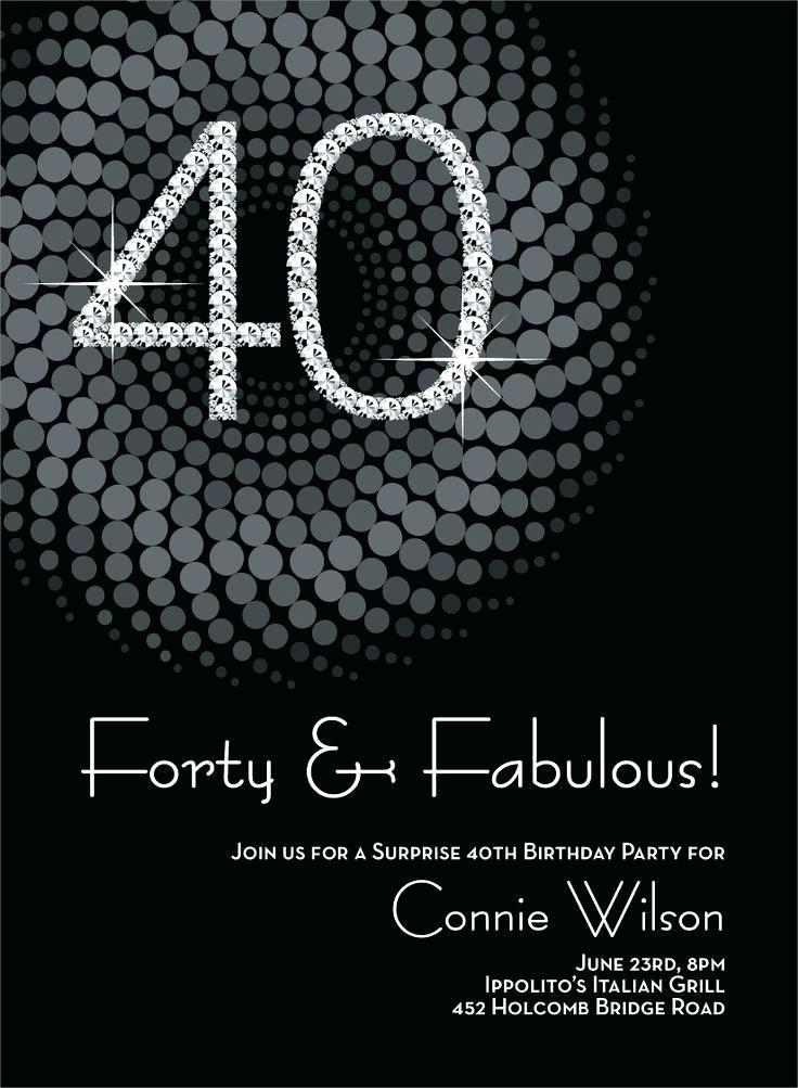 40 Year Birthday Invitation Template