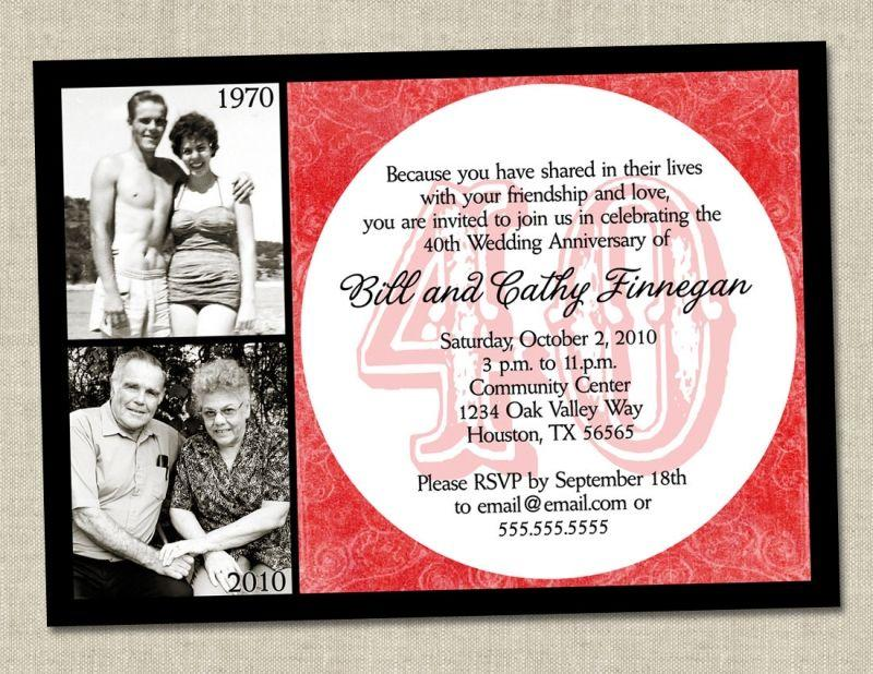 50th Wedding Anniversary Invitation Templates Free