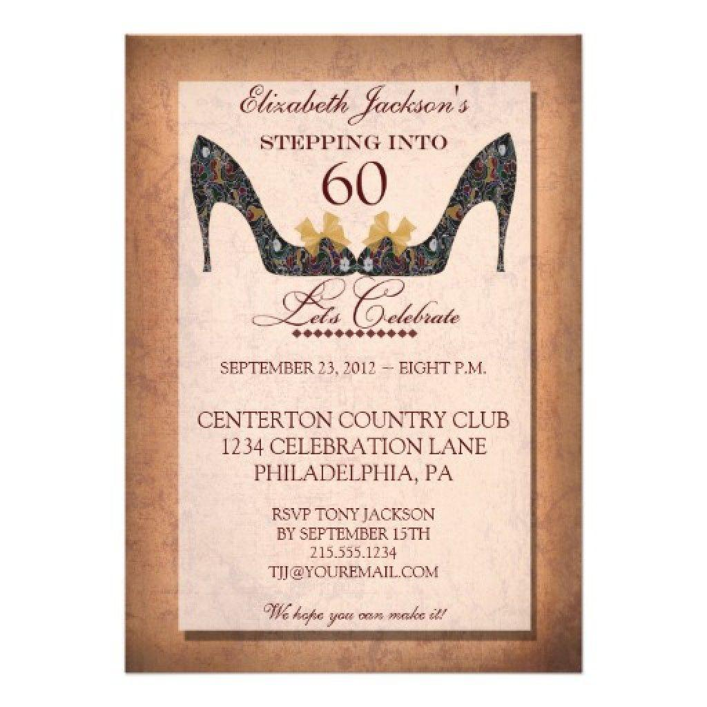 60th Birthday Party Invitation Templates Free