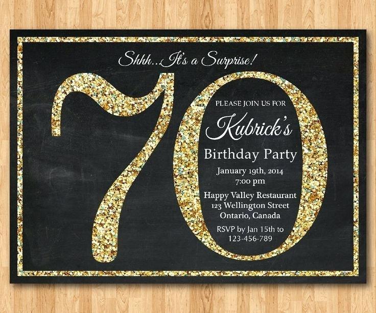 70th Birthday Invitation Maker