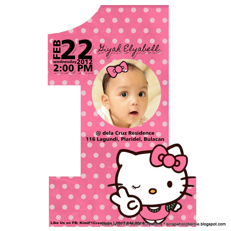 7th Birthday Invitation Template Hello Kitty