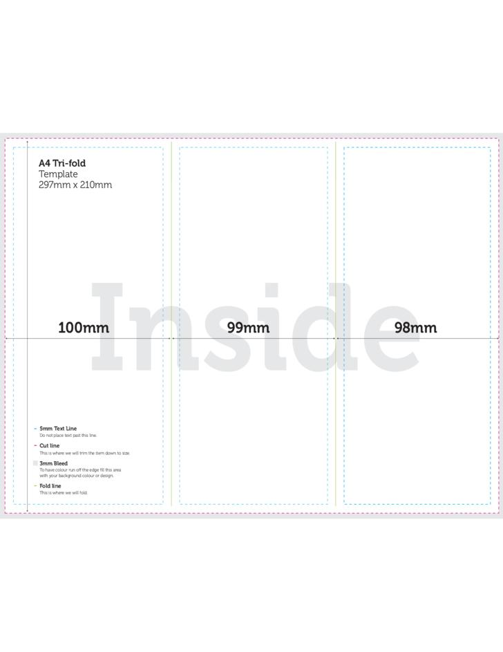 A4 Tri Fold Brochure Template Psd