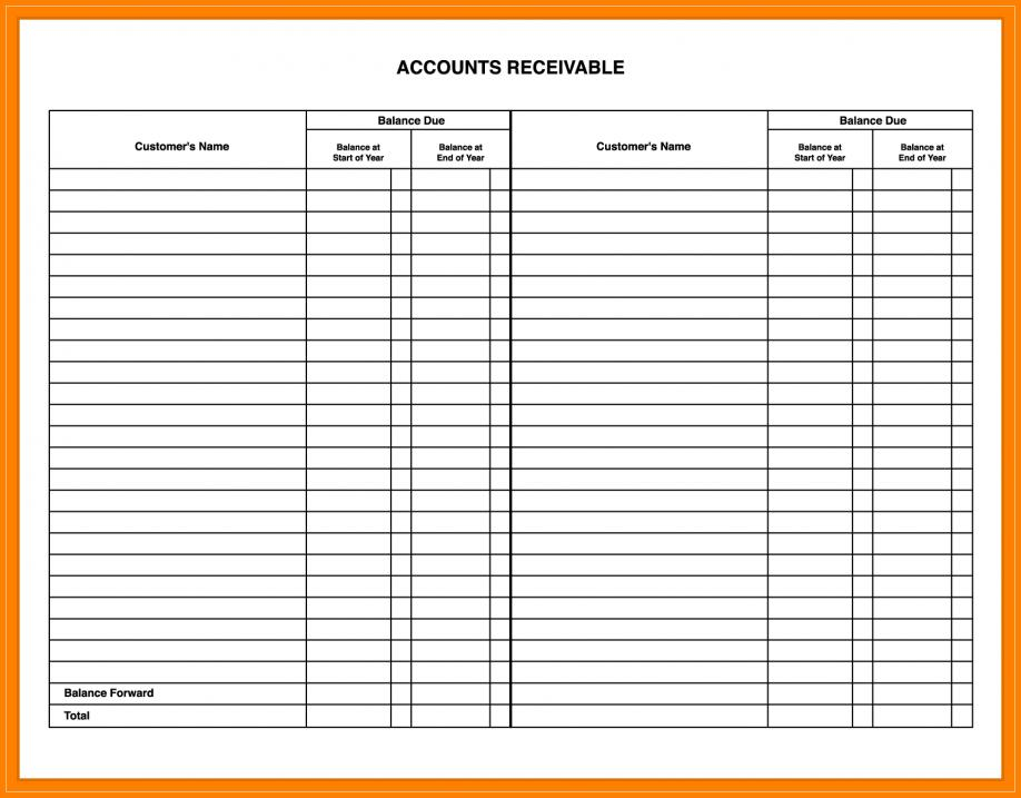 Accounting Ledger Templates Free
