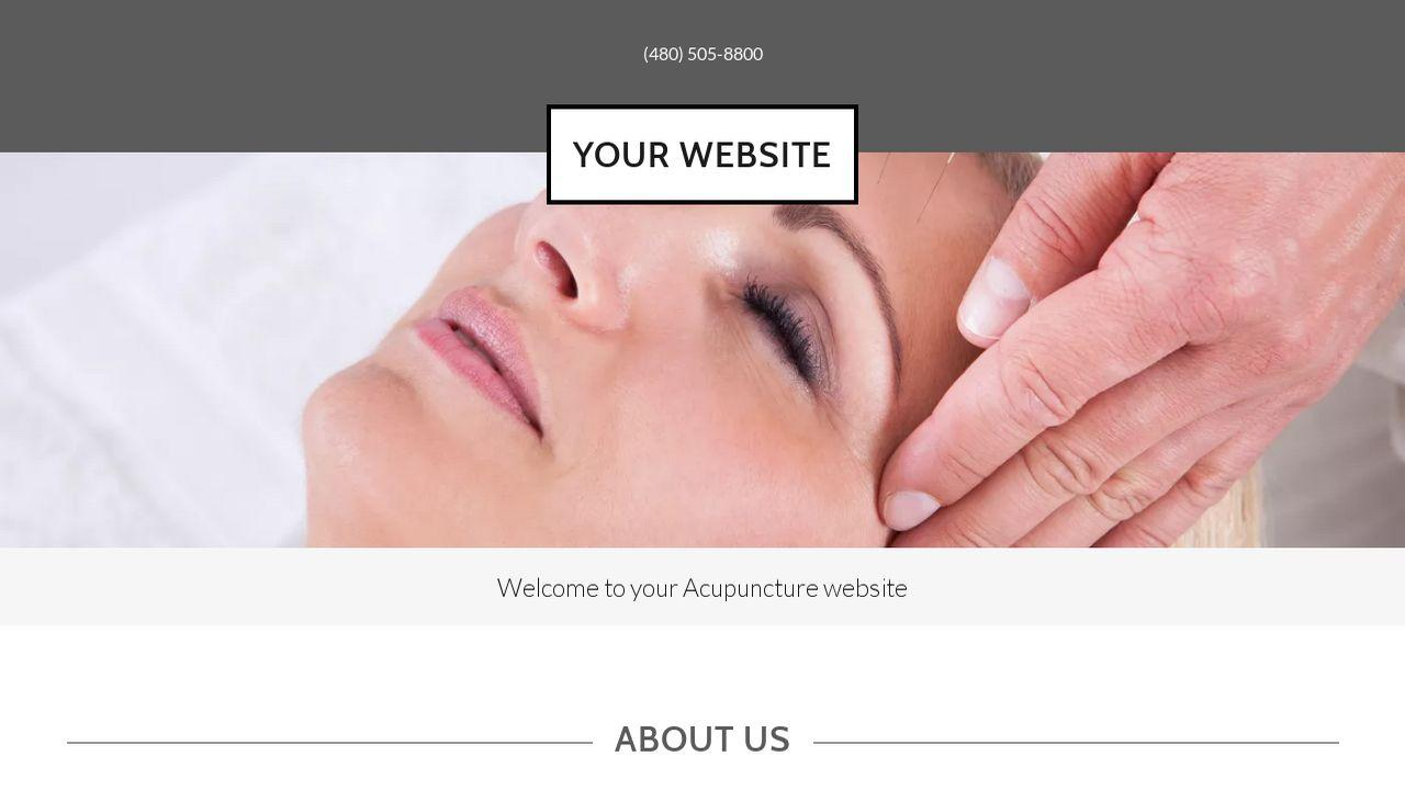 Acupuncture Website Templates