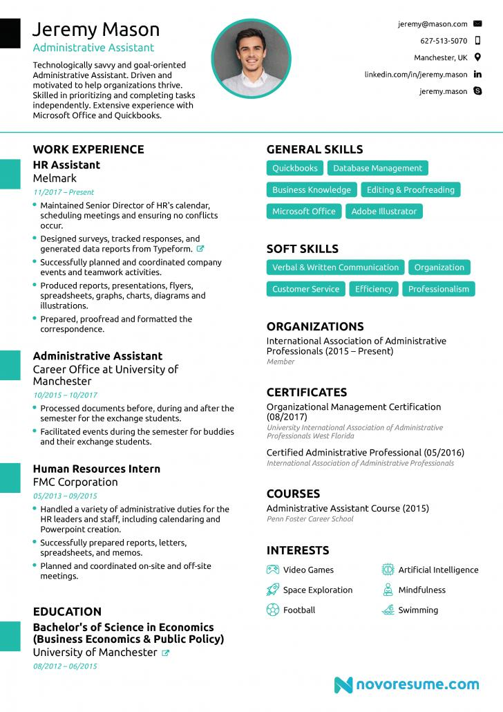 Administrative Assistant Resume Template Microsoft Word Free Download
