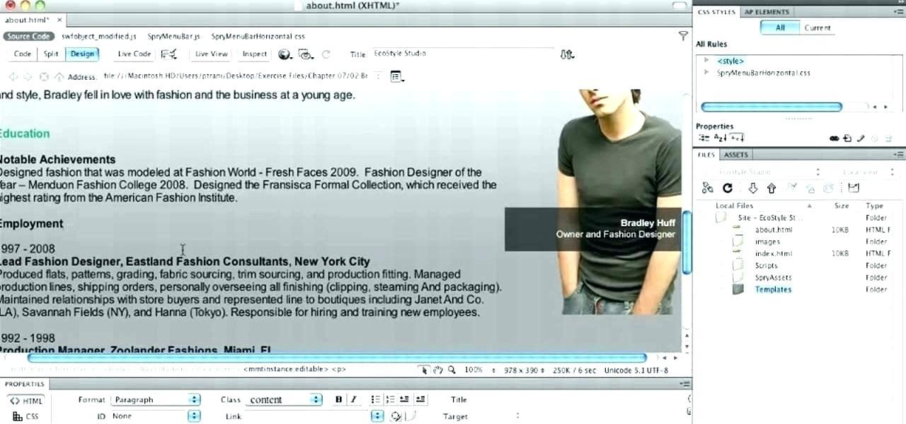 Adobe Dreamweaver Templates