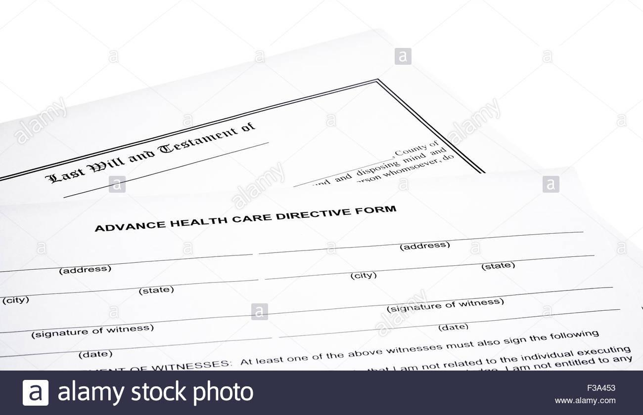 Advanced Healthcare Directive Template