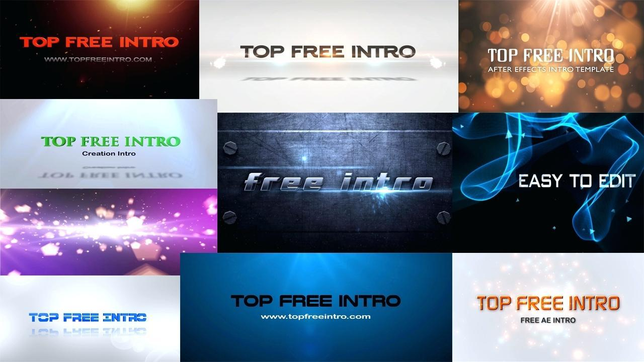 After Effects Intro Templates Free No Plugins