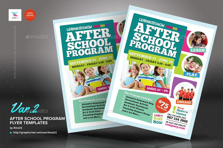 After School Flyer Template Free