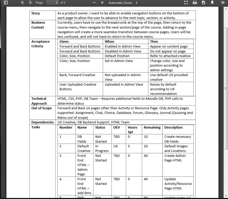 Agile Requirement Document Sample