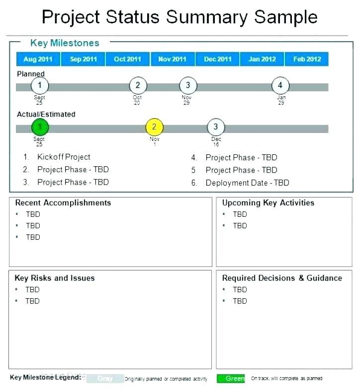 Agile Scrum Status Report Template