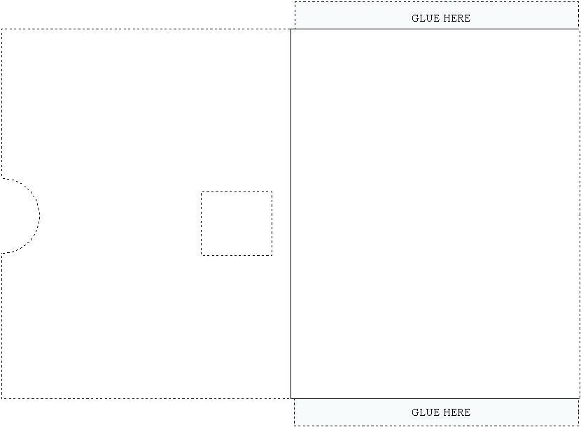 Airline Ticket Envelope Template