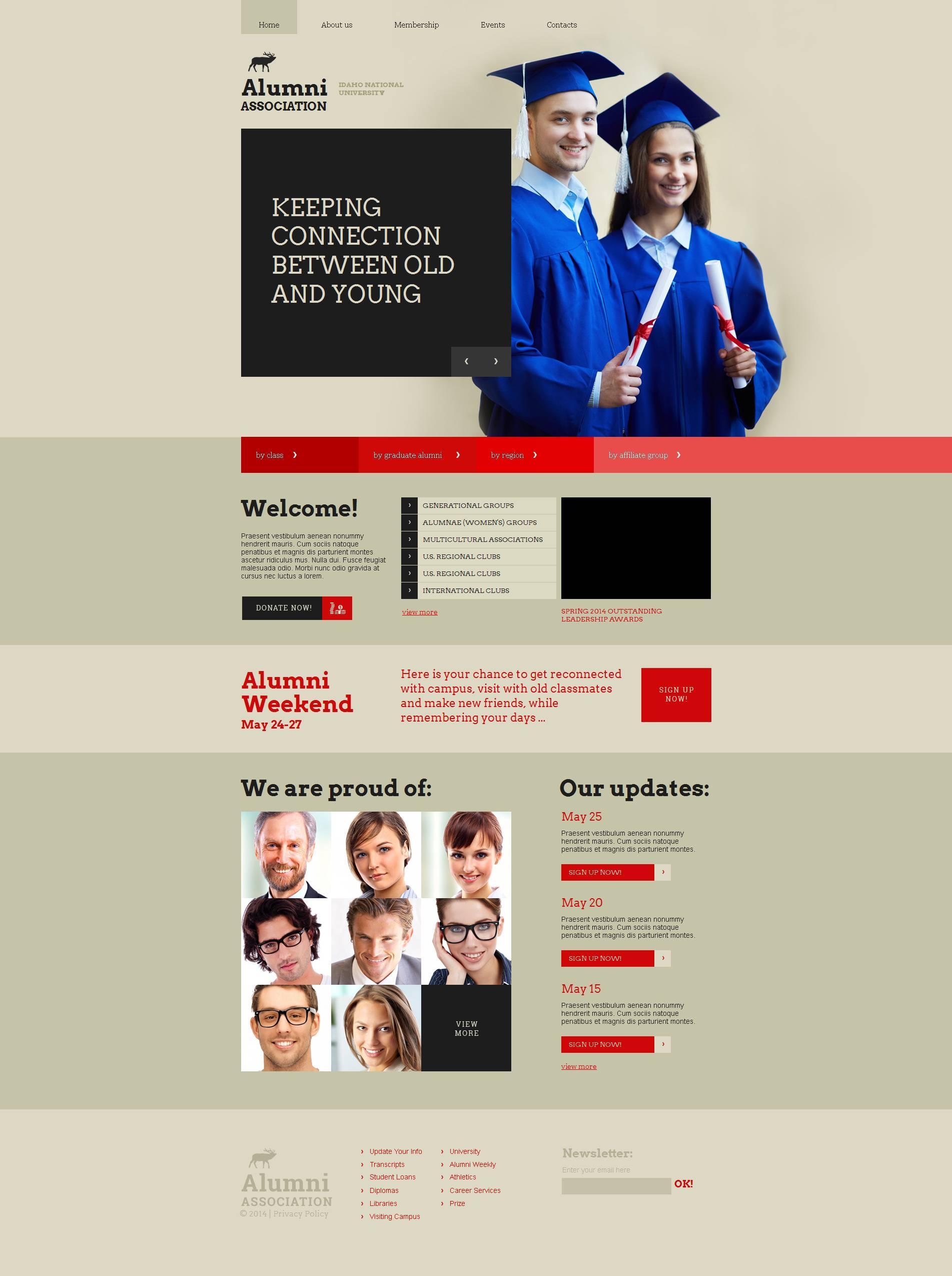Alumni Association Website Template