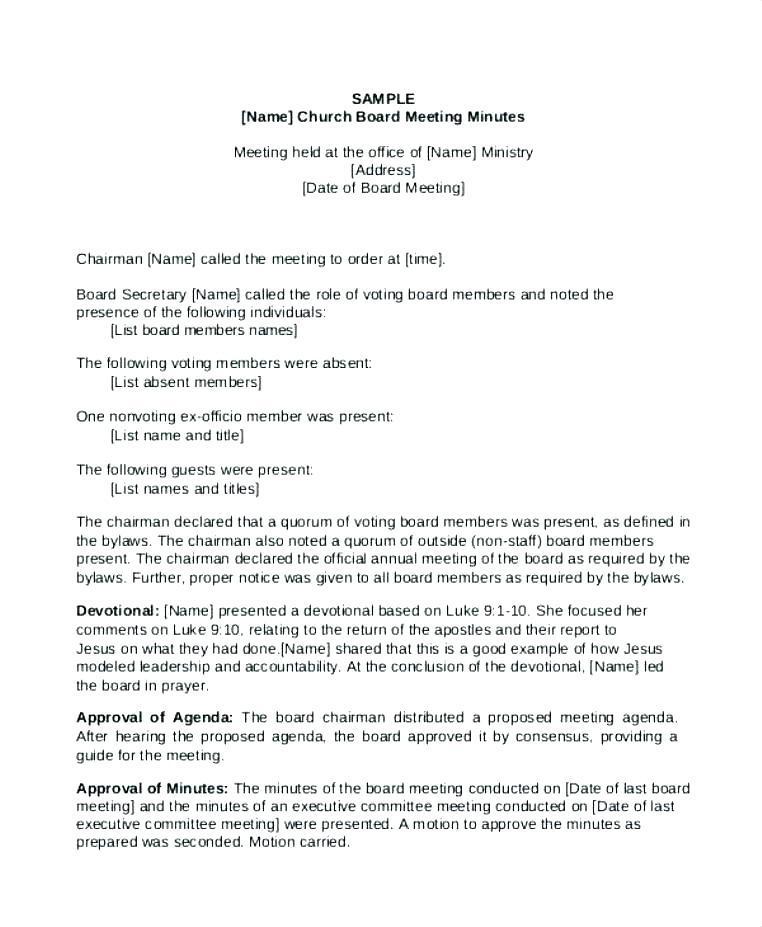 Annual Shareholder Meeting Minutes Sample