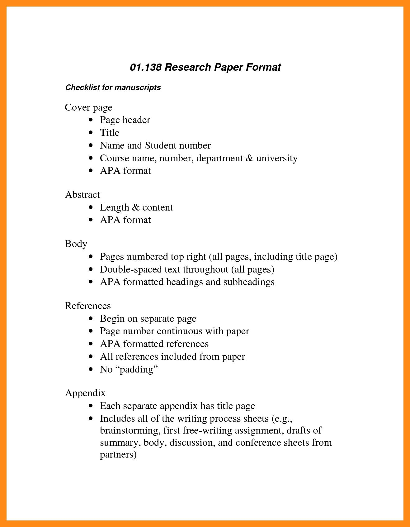 Apa 6th Edition Outline Template