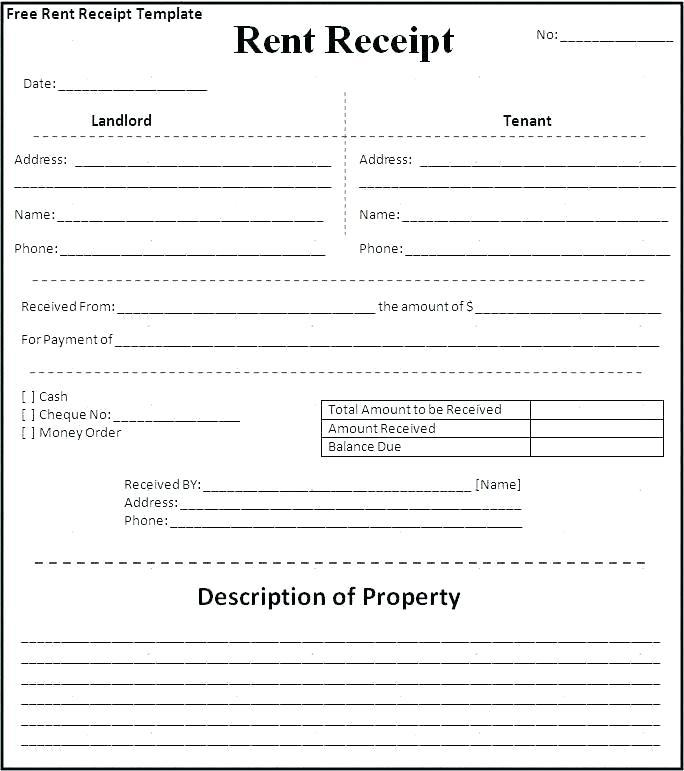 Apartment Rent Receipt Sample