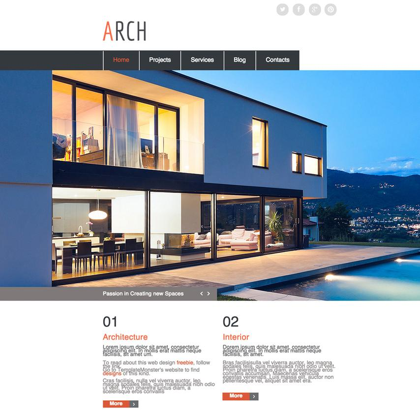 Architecture Responsive Website Templates Free Download
