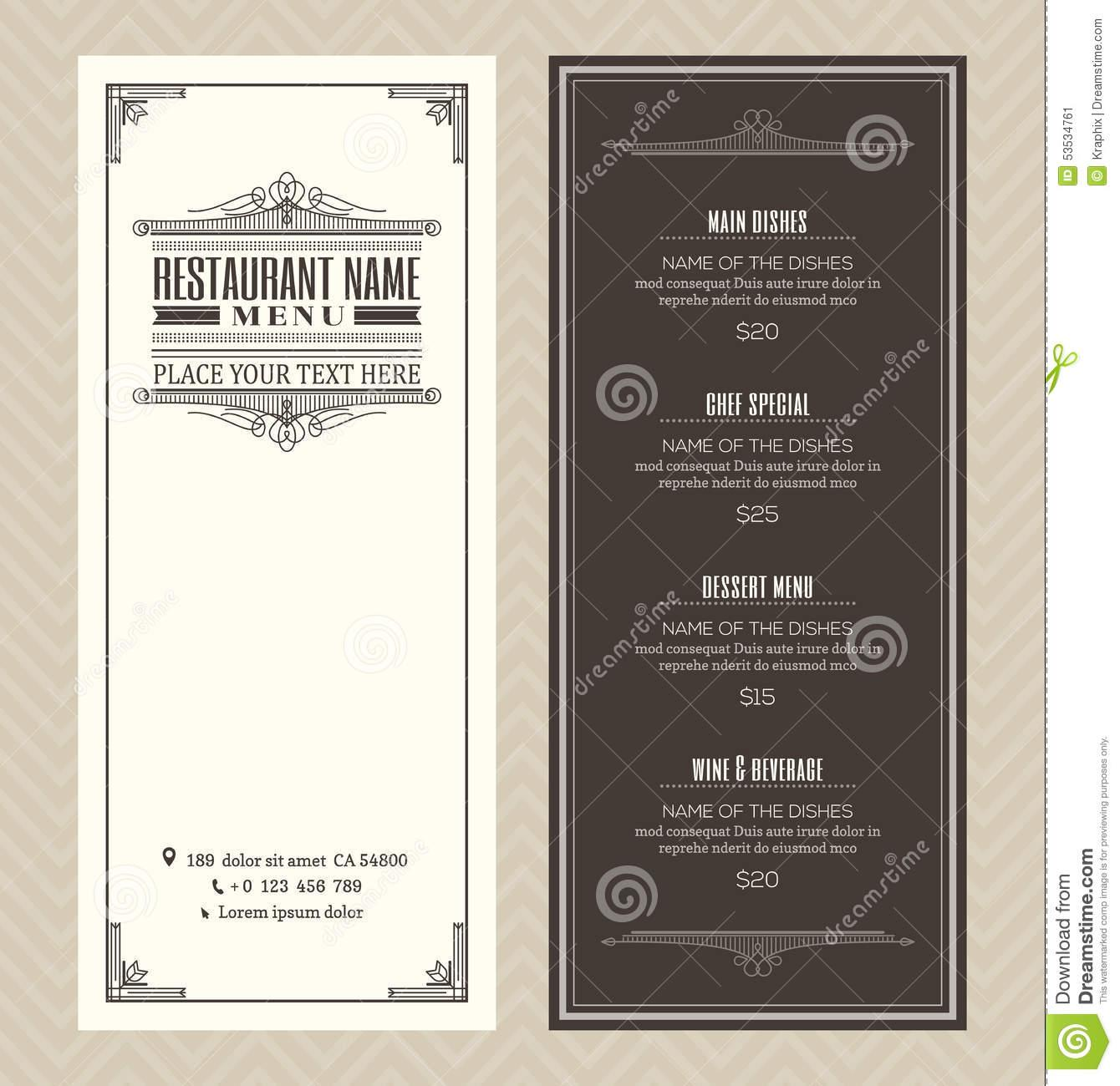 Art Deco Menu Template