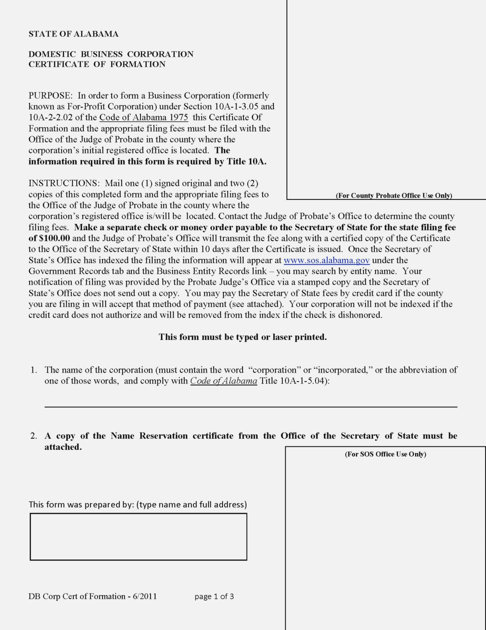 Articles Of Incorporation Georgia Template