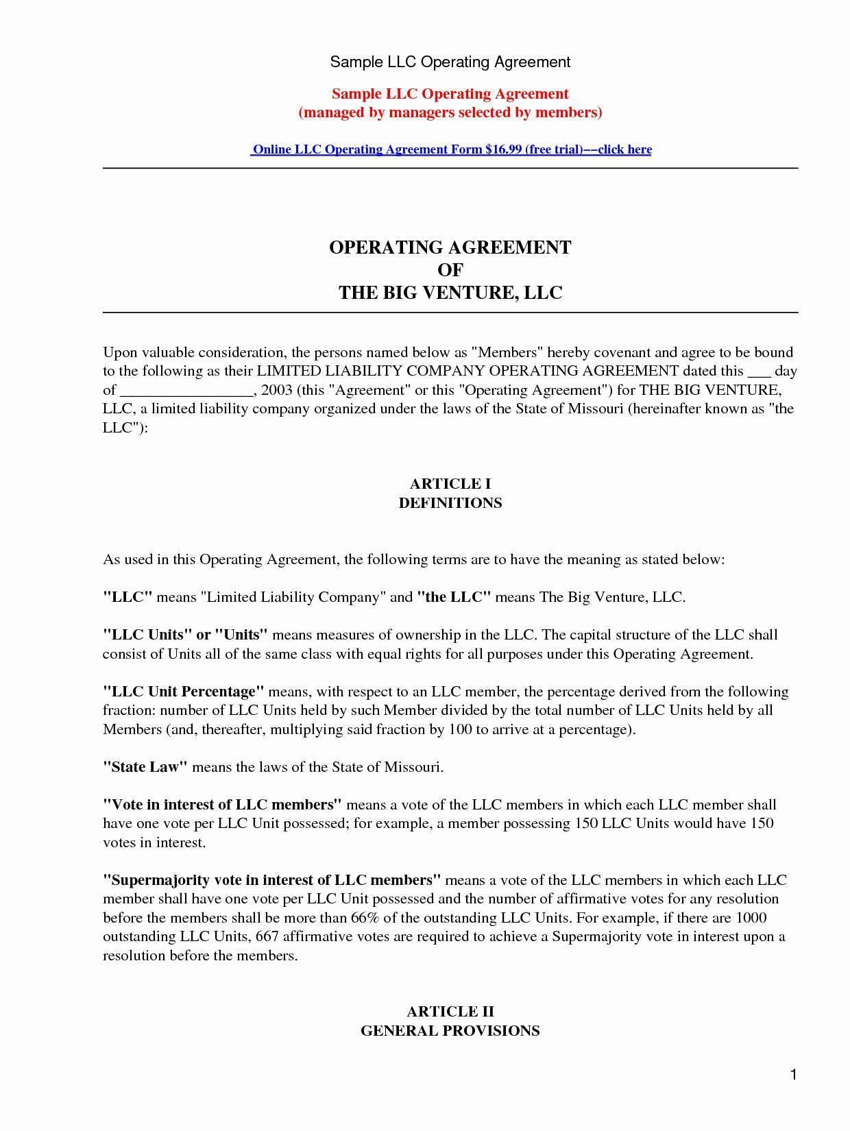 Articles Of Organization Llc Utah Template