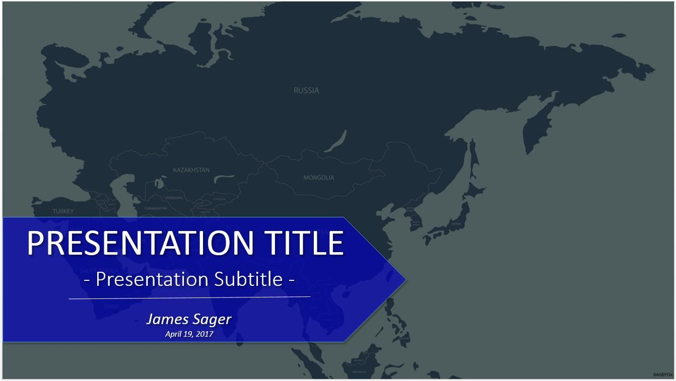 Asia Map Powerpoint Templates Free