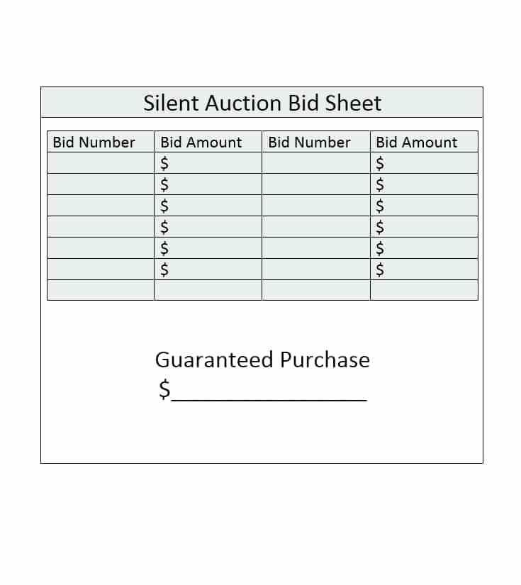 Auction Draft Spreadsheet Template
