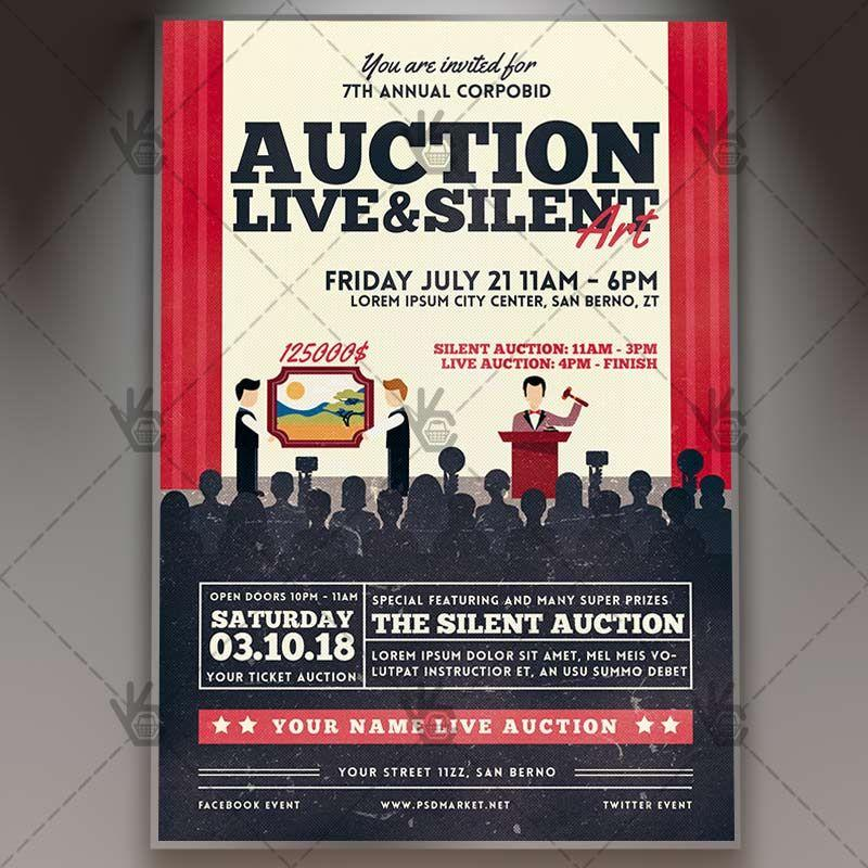 Auction Flyer Template Psd