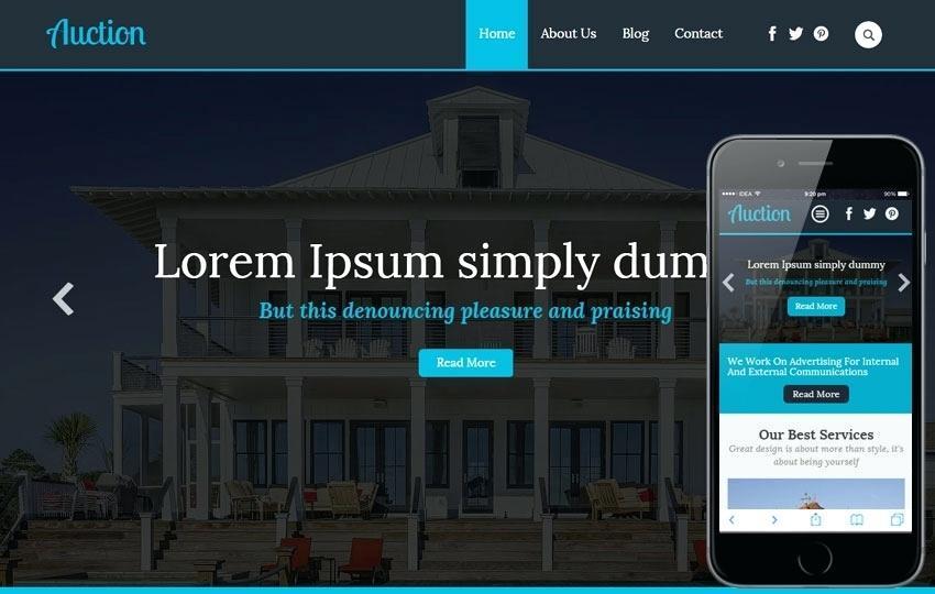 Auction Website Template WordPress Free Download