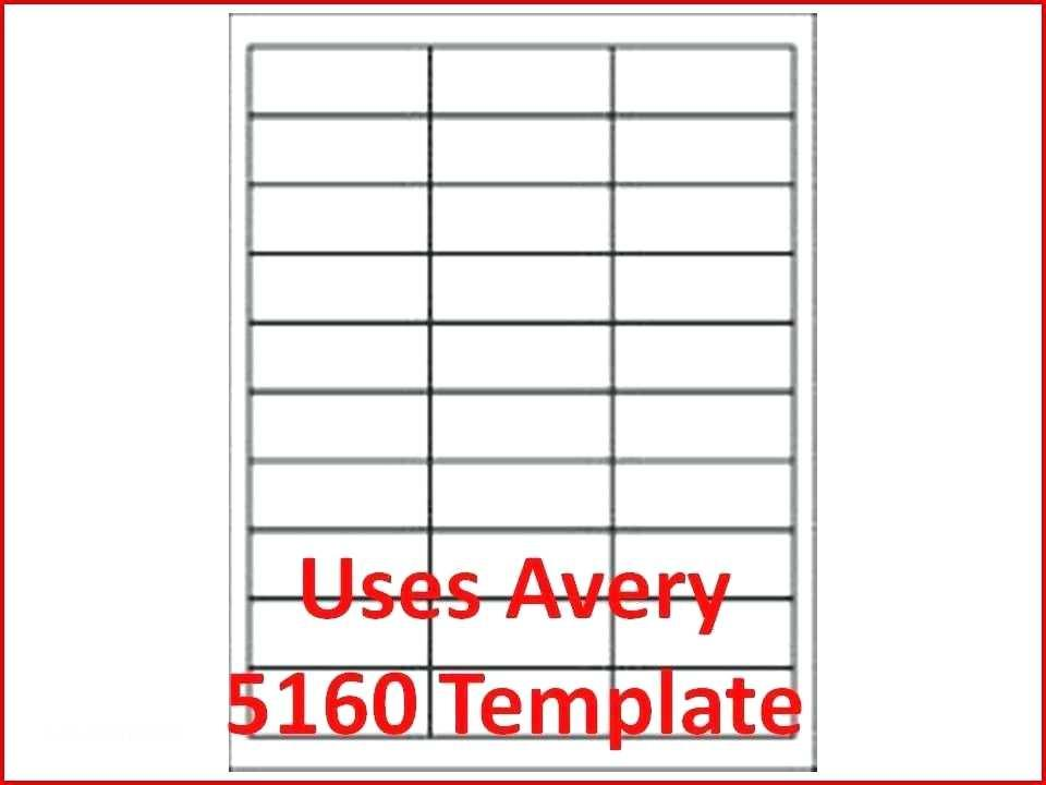 Avery 30 Labels Per Sheet Template Word