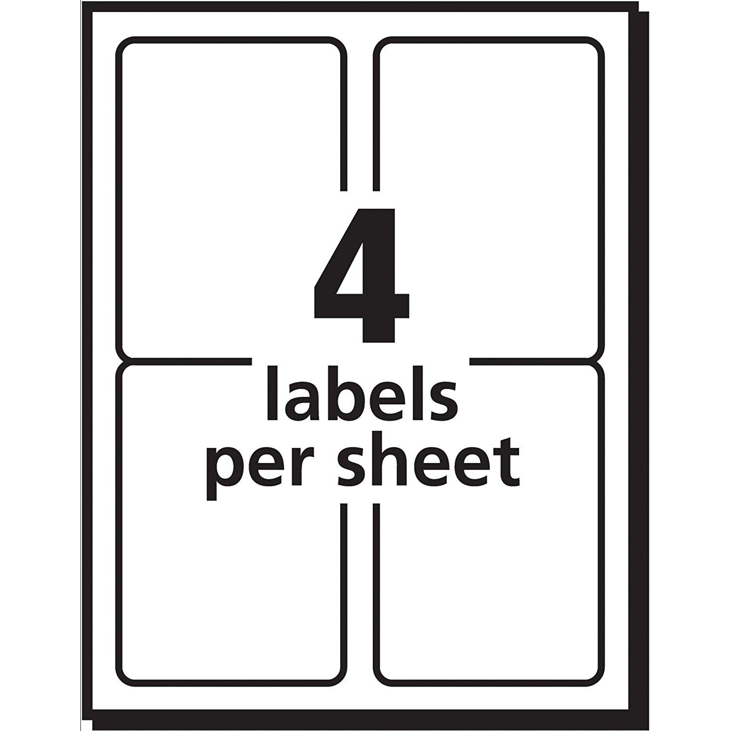 Avery 4x6 Label Template