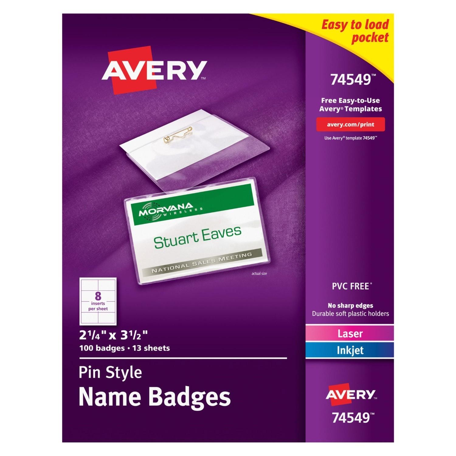 Avery Badge Template 74549