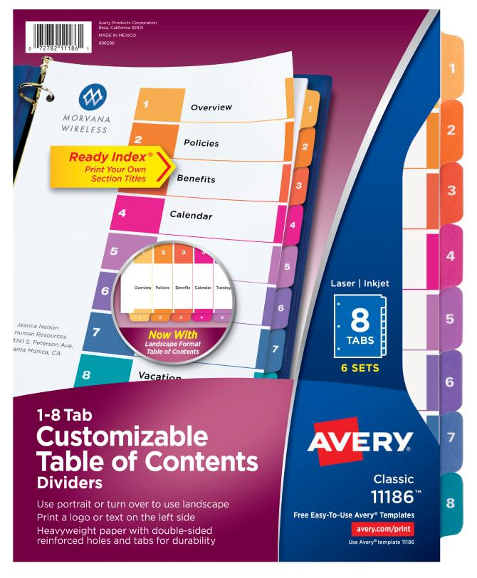 Avery Divider Template 11437 - Templates #39176 | Resume Examples