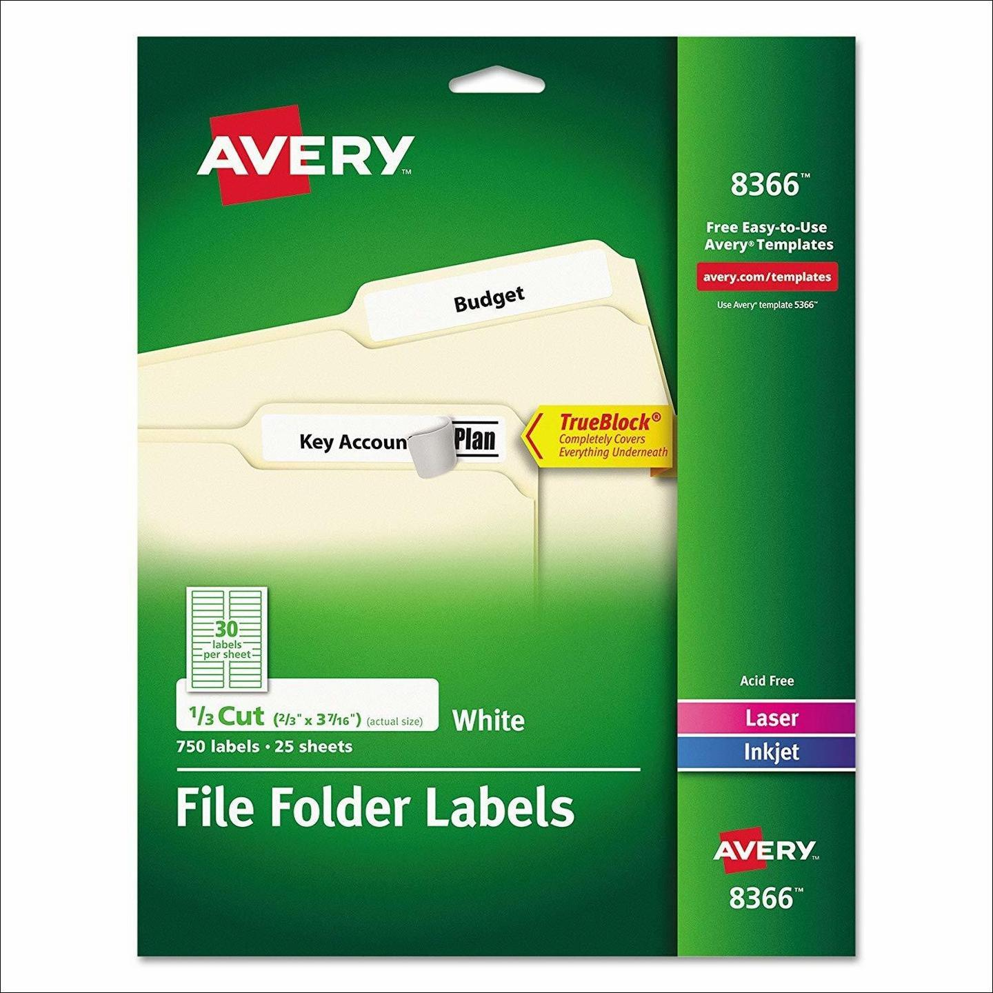 Avery File Folder Label Template 2180