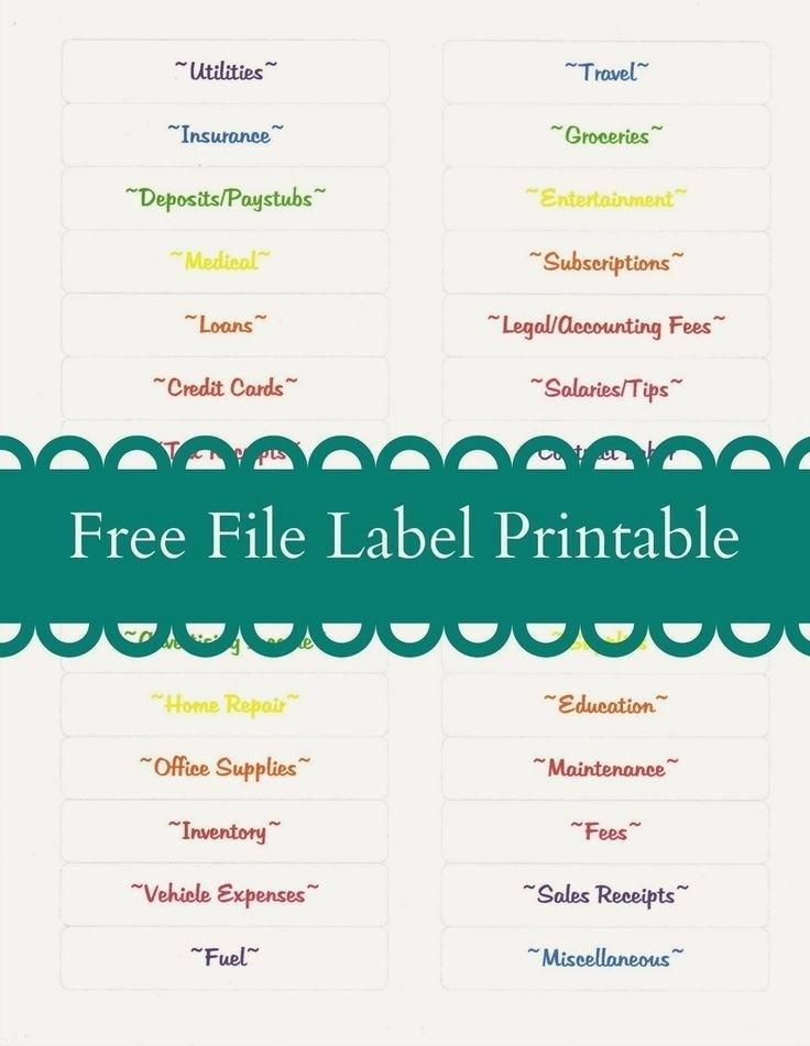 Avery File Label Template 2181