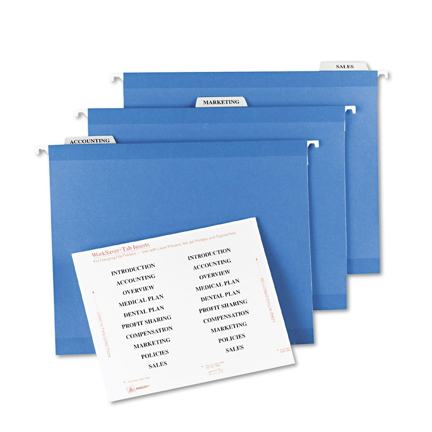 Avery Hanging File Folder Labels Template