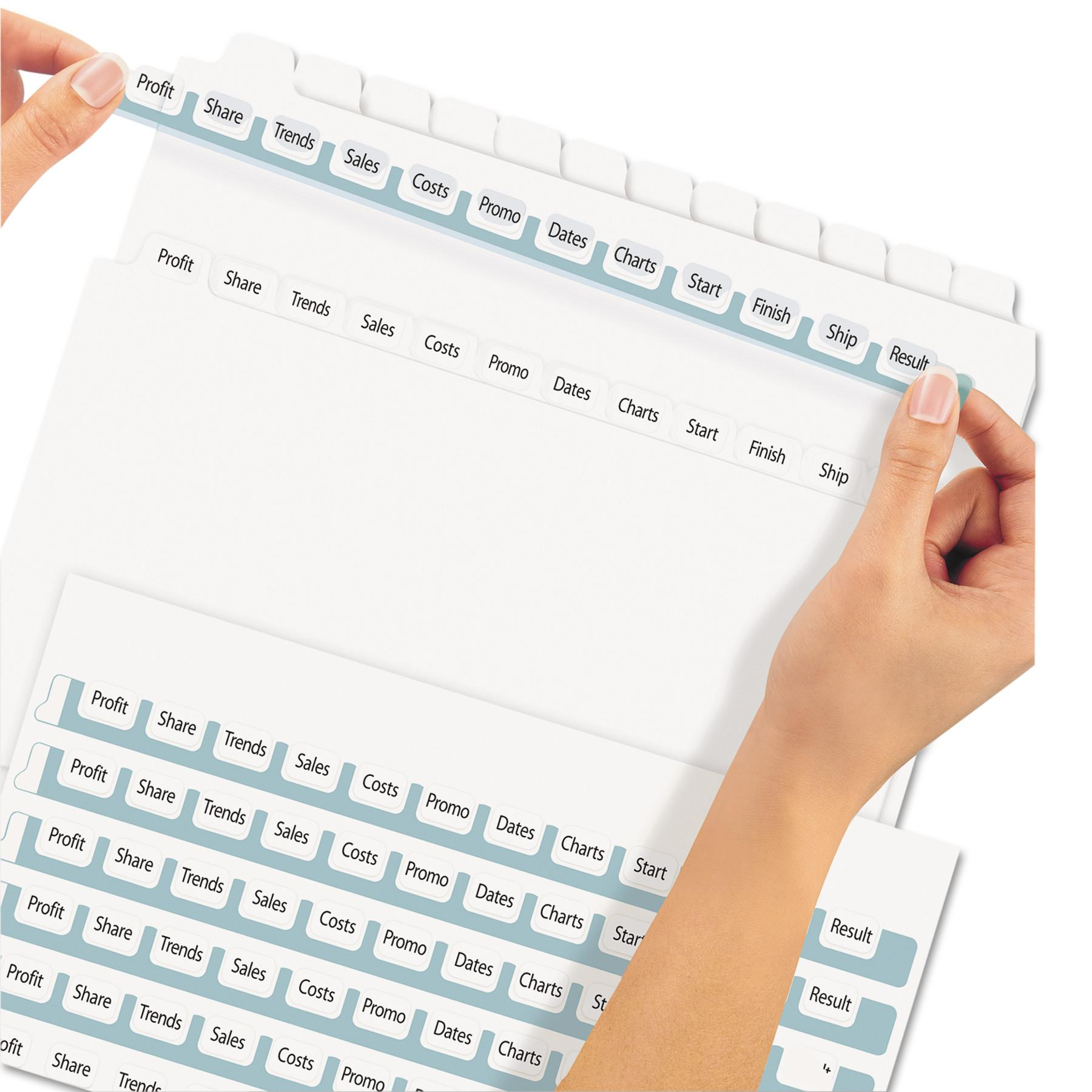 Avery Index Maker 5 Tab Template 11446