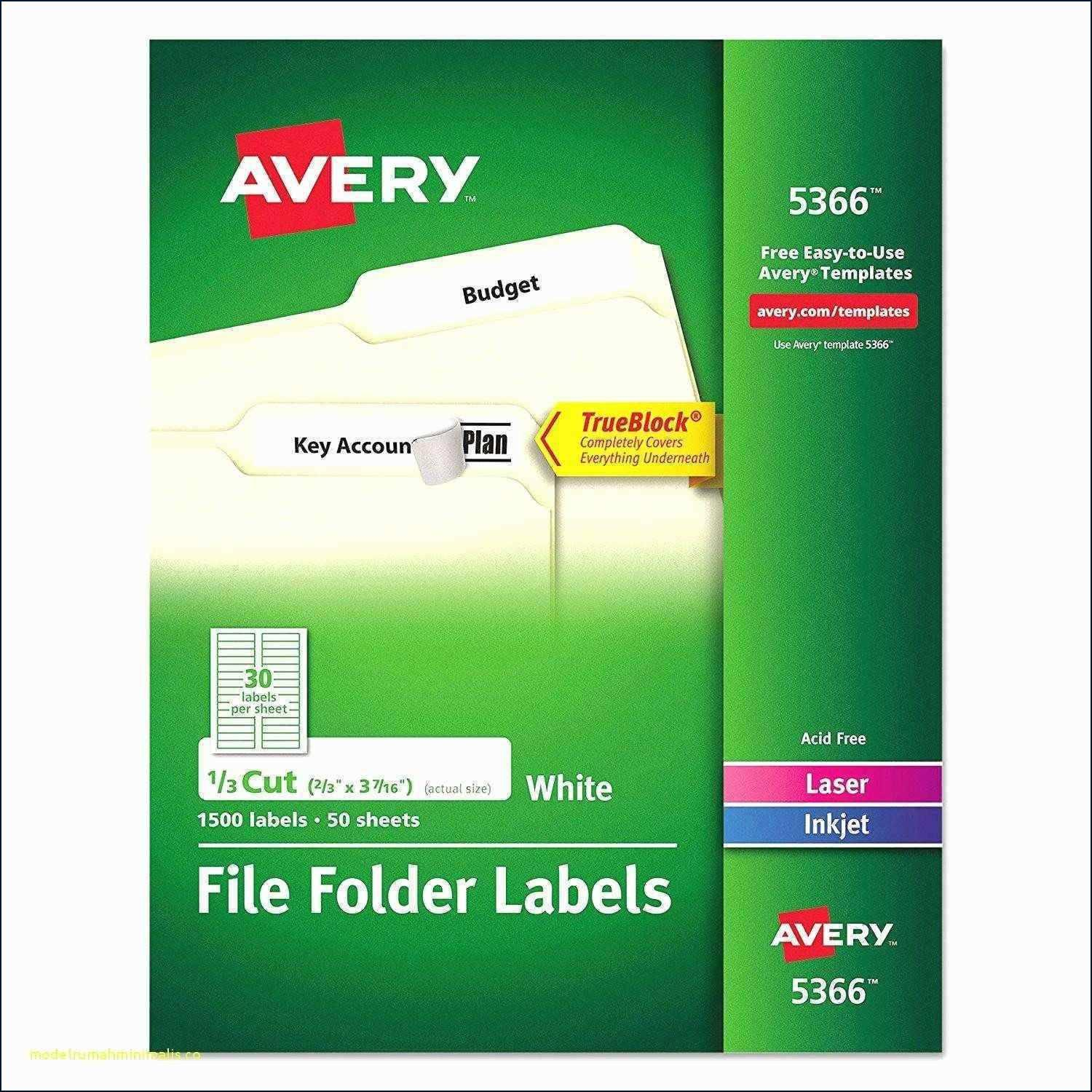 Avery Labels Template 5366