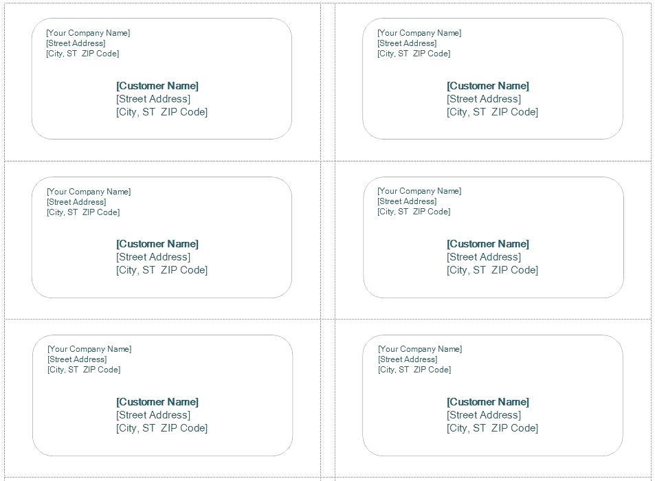 Avery Labels Template 8163