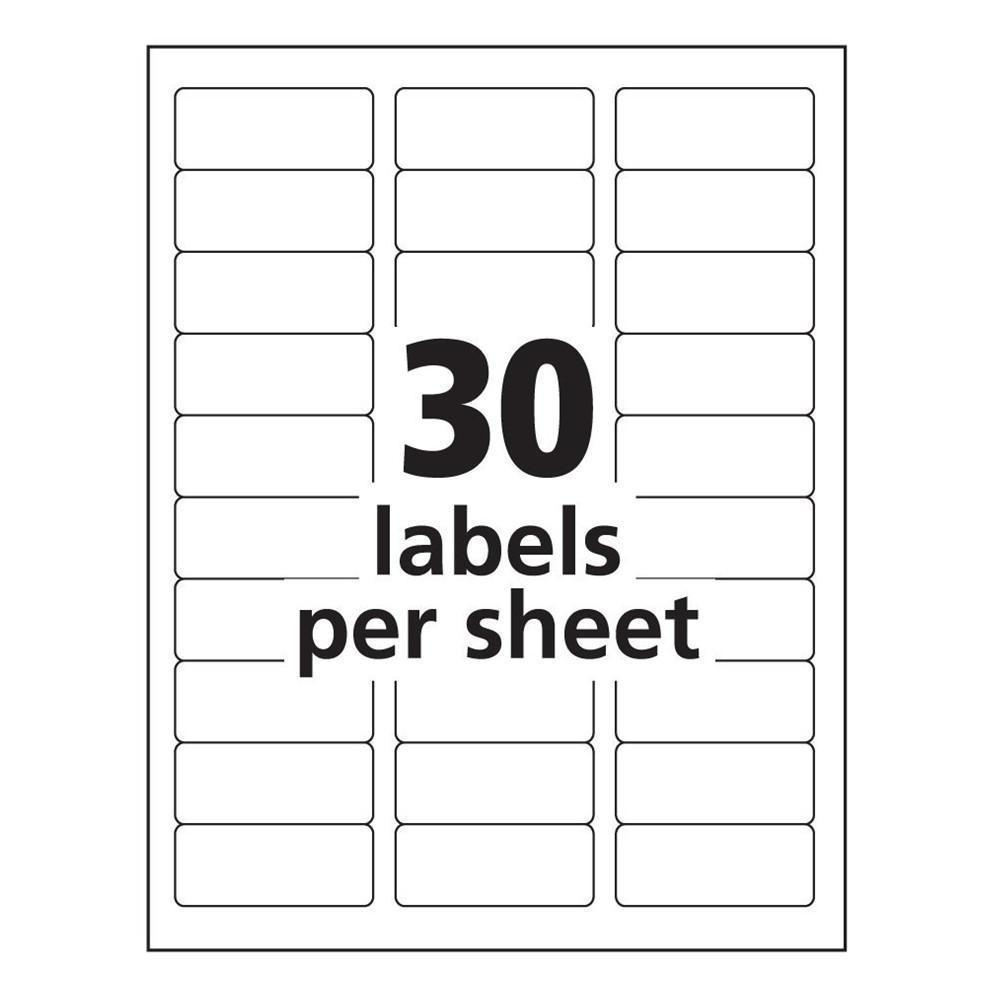 Avery Laser Labels Template 5160