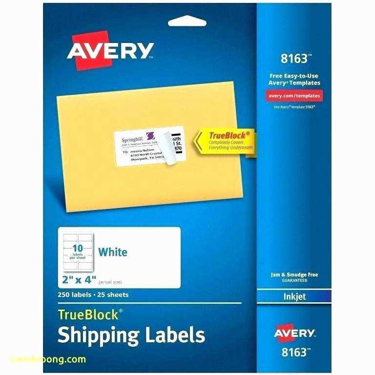 Avery Mailing Label Template 5260