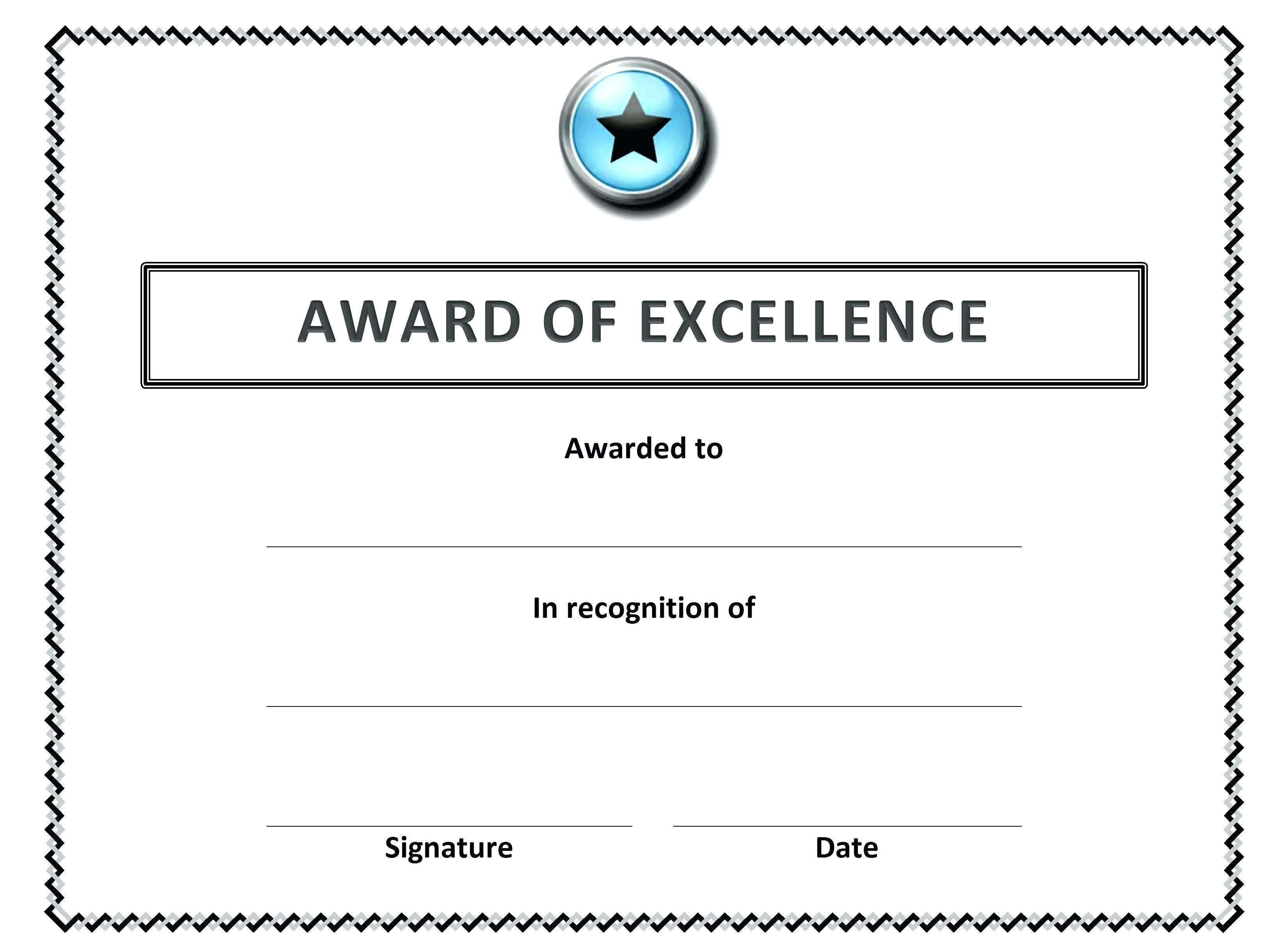 Award Certificate Templates Vector Free Download