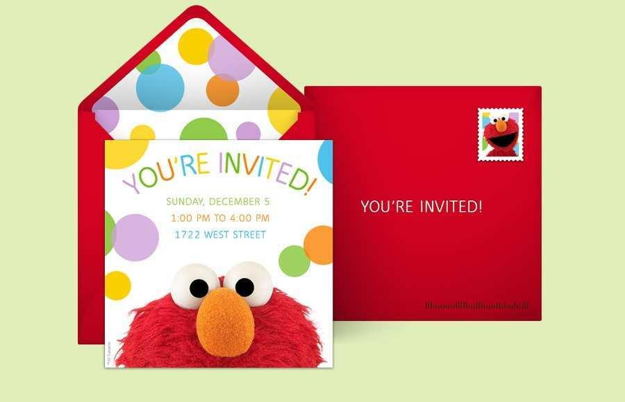 Baby Sesame Street Invitation Template