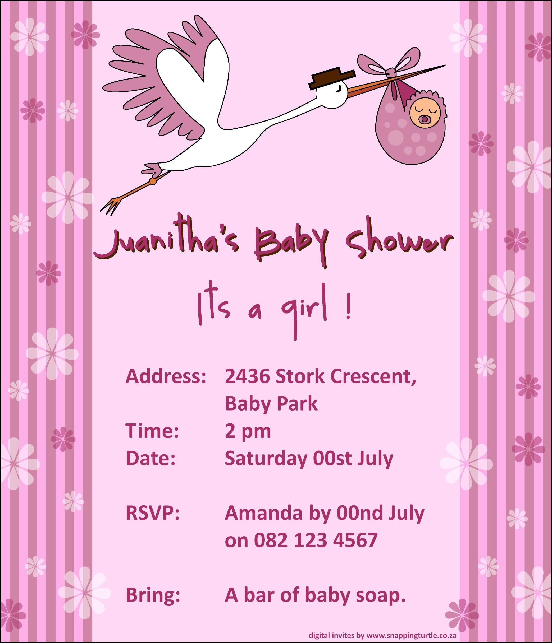 Baby Shower Invitation Template Online