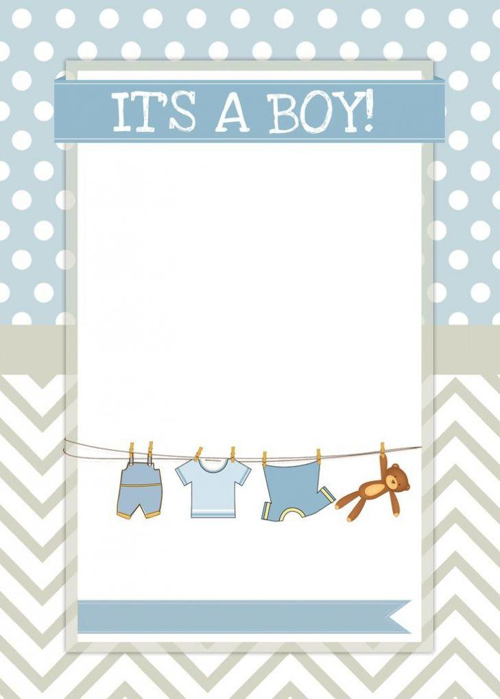 Baby Shower Invitation Templates For Boy
