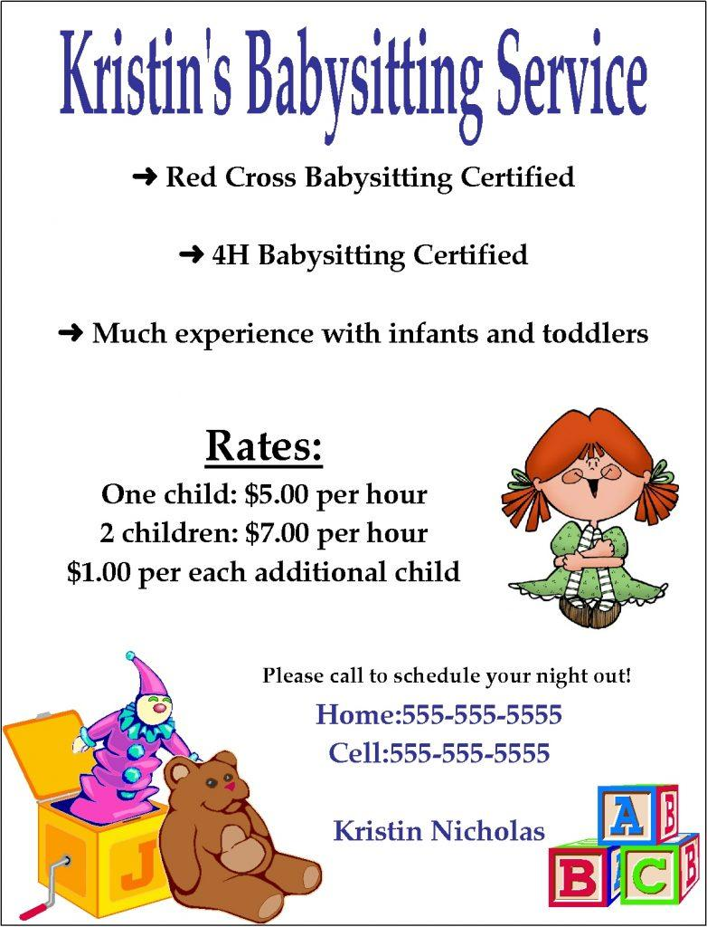 Babysitting Flyer Templates Free