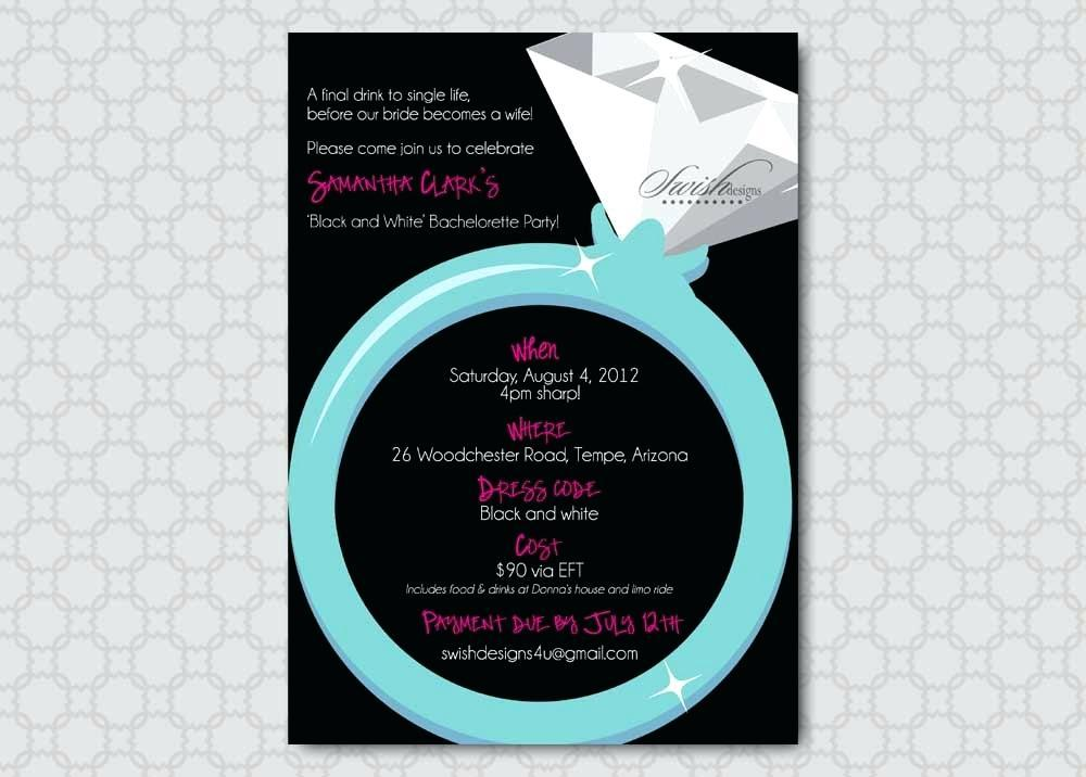 Bachelorette Party Invitation Templates Microsoft Word