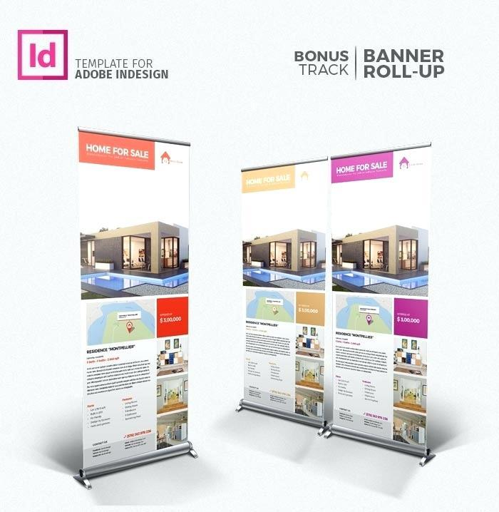 Banner Stand Indesign Template
