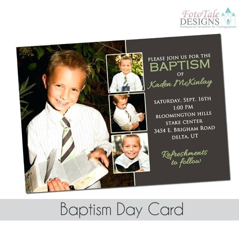 Baptism Invitation Template Lds